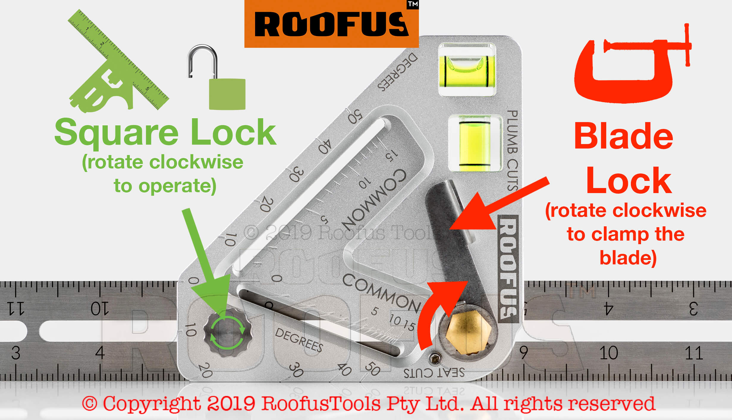 How the two locks on Roofus work and what they do
