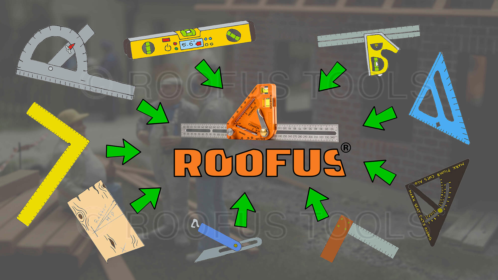 What tools can the roofus replace?